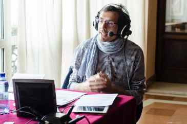 Journalist Federico Taddia reports from the Perugia International Festival of Journalism in 2013.